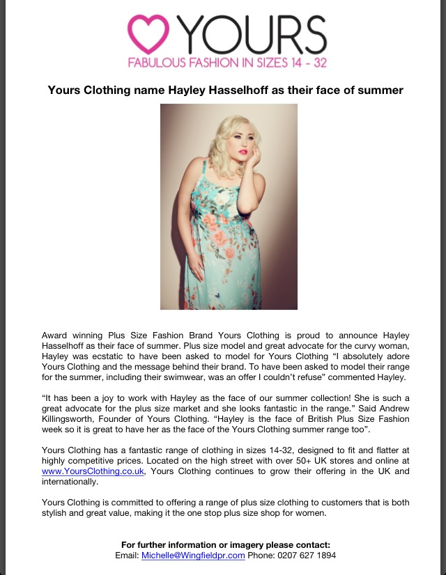 Hayley yours clothing official